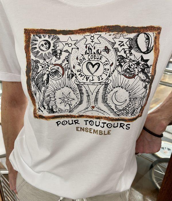 T-Shirt Margittes Motivdruck